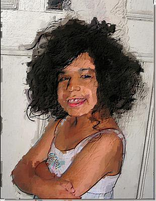 Image by:  Bill Strain - CEZANNE PAINTS LILI - Not image of grandaughter
